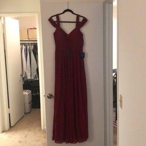Ocean of elegance wine red maxi dress from Lulu's